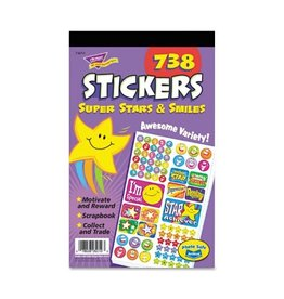 TREND Enterprises STICKERS-VARIETY PACK, SUPER STARS AND SMILES
