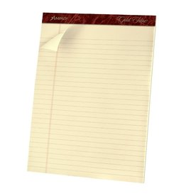 TOPS Products WRITING PAD-PERFED, LETTER GOLD FIBRE 70 SHEET IVORY