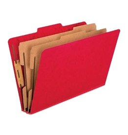 TOPS Products FOLDER-CLASSIFICATION, LEGAL 2 DIVISION, SCARLET -2257SC