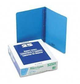 TOPS Products REPORT COVER-WITH FASTENERS, PANEL AND BORDER, LIGHT BLUE
