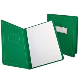 TOPS Products REPORT COVER-WITH FASTENERS, PANEL AND BORDER, GREEN