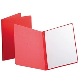 TOPS Products REPORT COVER-WITH FASTENERS, PANEL AND BORDER, RED