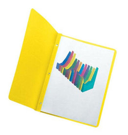 TOPS Products REPORT COVER-WITH FASTENERS, PANEL AND BORDER, YELLOW