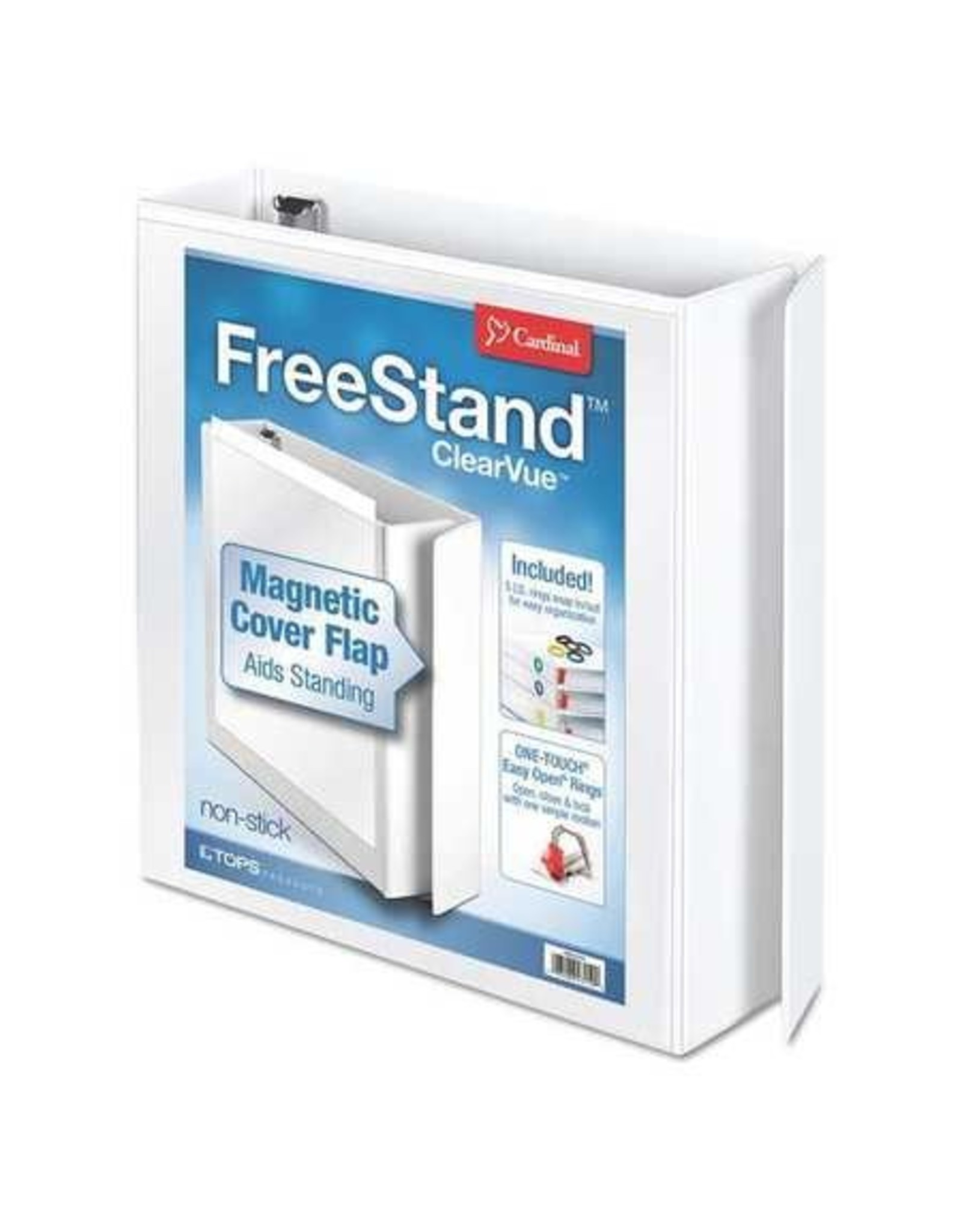 "TOPS Products BINDER-FREE STAND, OVERLAY 2"" SLANT-D, WHITE"