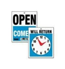 """IDENTITY GROUP/US STAMP & SIGN SIGN-WILL RETURN CLOCK 5"""" X6"""" ENGLISH"""