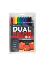 American Tombow BRUSH PEN SET-DUAL TIP, PRIMARY PALETTE, 10/PACK