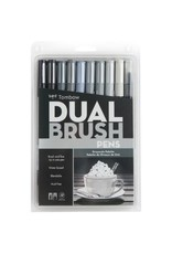 American Tombow BRUSH PEN SET-DUAL, GREYSCALE PALETTE, 10/PACK