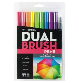 American Tombow BRUSH PEN SET-DUAL, BRIGHT PALETTE, 10/PACK