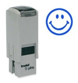 Trodat STAMP-S-PRINTY, SMALL, HAPPY FACE, BLUE