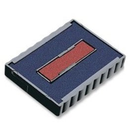 Trodat STAMP REPLACEMENT PAD, BLUE/RED -6/4750/2