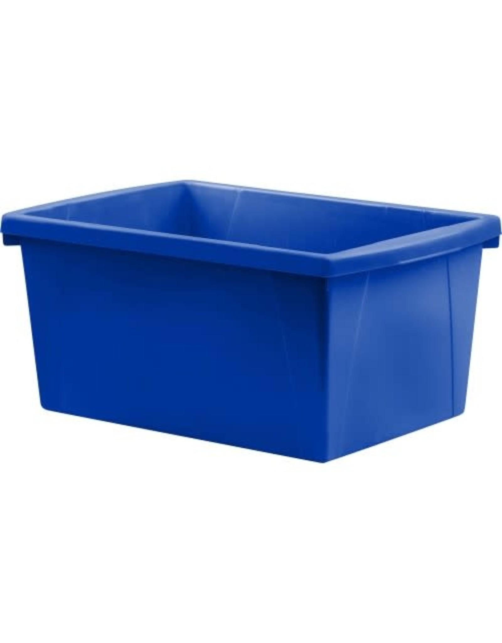 Storex BIN-STORAGE, CLASSROOM 21L, STACKABLE BLUE