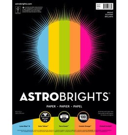 Spicers PAPER-ASTROBRIGHTS LETTER 24LB, ASSORTED 20X5 COLOURS