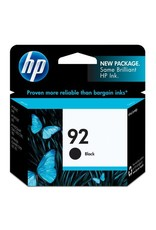 HP INKJET CARTRIDGE-HP #92 BLACK
