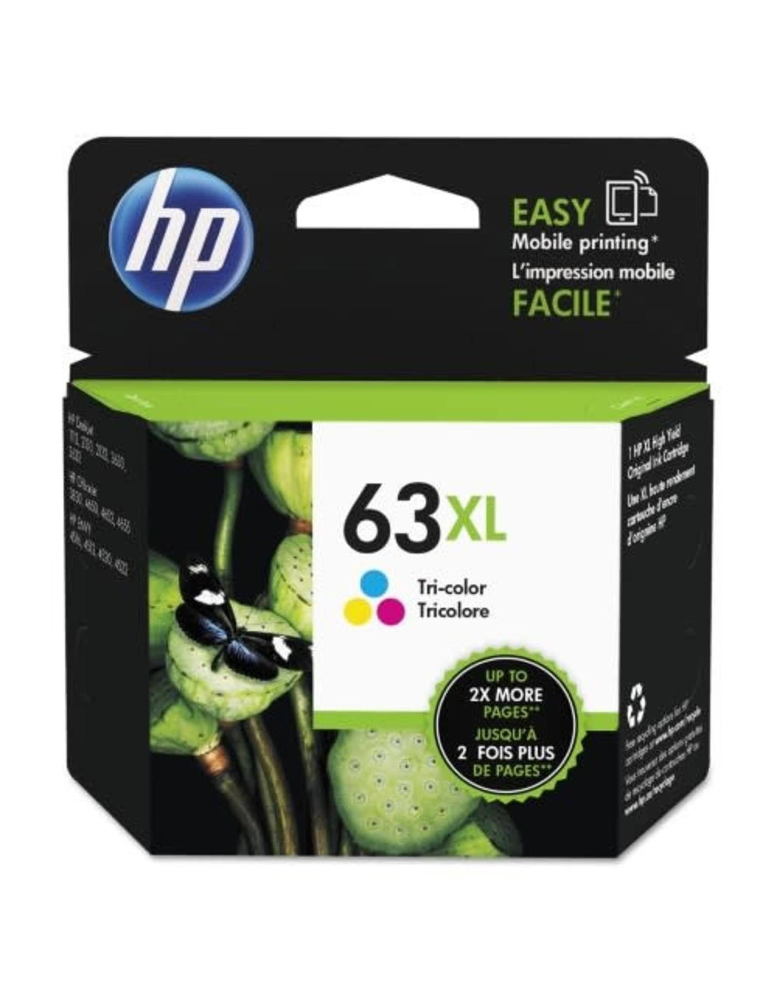 HP INKJET CARTRIDGE-HP #63XL COLOUR HIGH YIELD