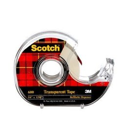 3M TAPE-TRANSPARENT SCOTCH 19MMX32.9M, PREMIUM PACK