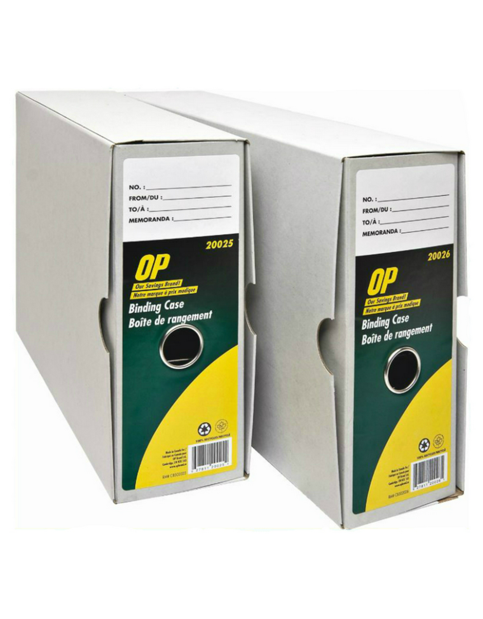 Office Plus BINDING CASE-LEGAL, RECYCLED OP BRAND 6/PK