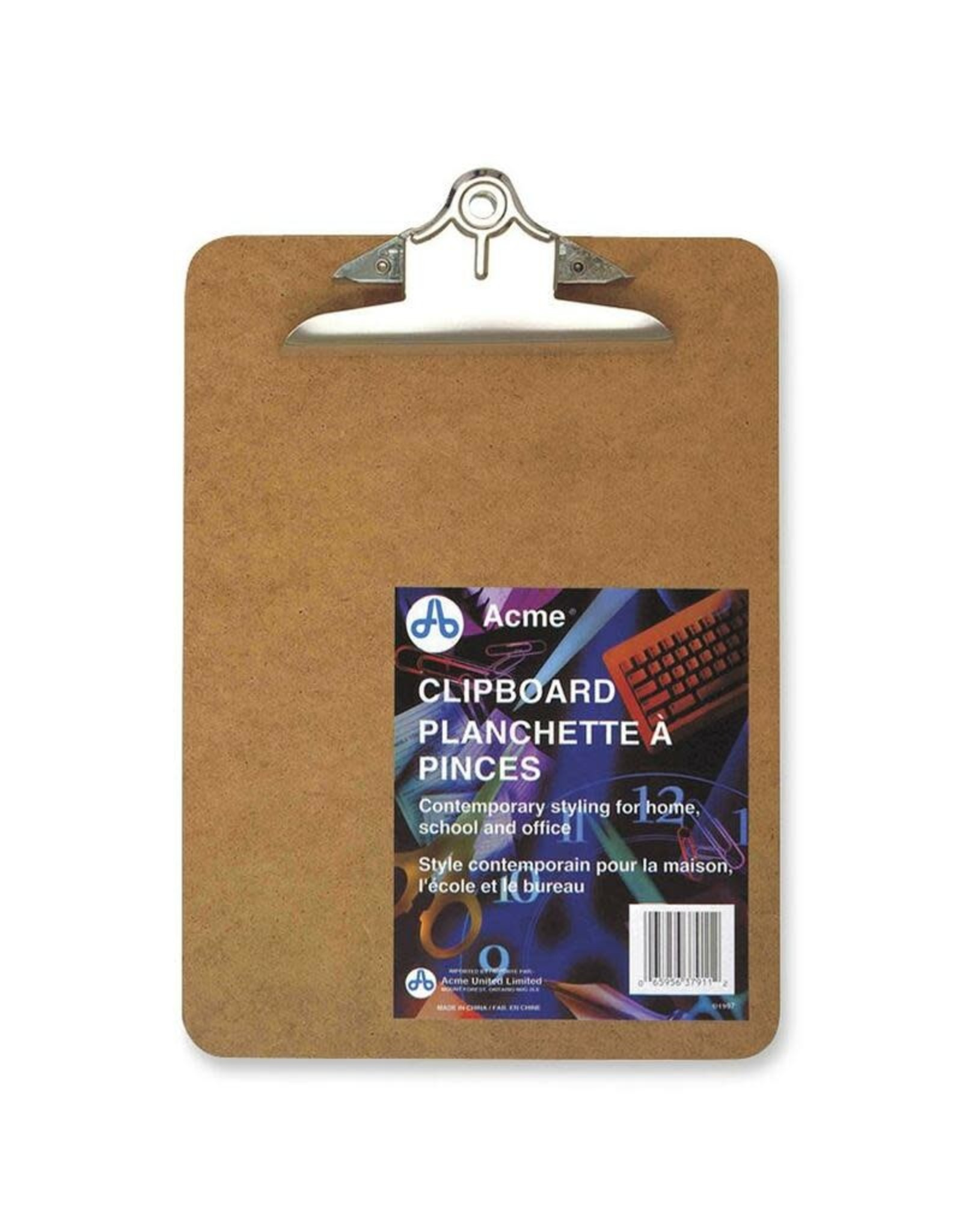 Acme United CLIPBOARD-MASONITE 9X12