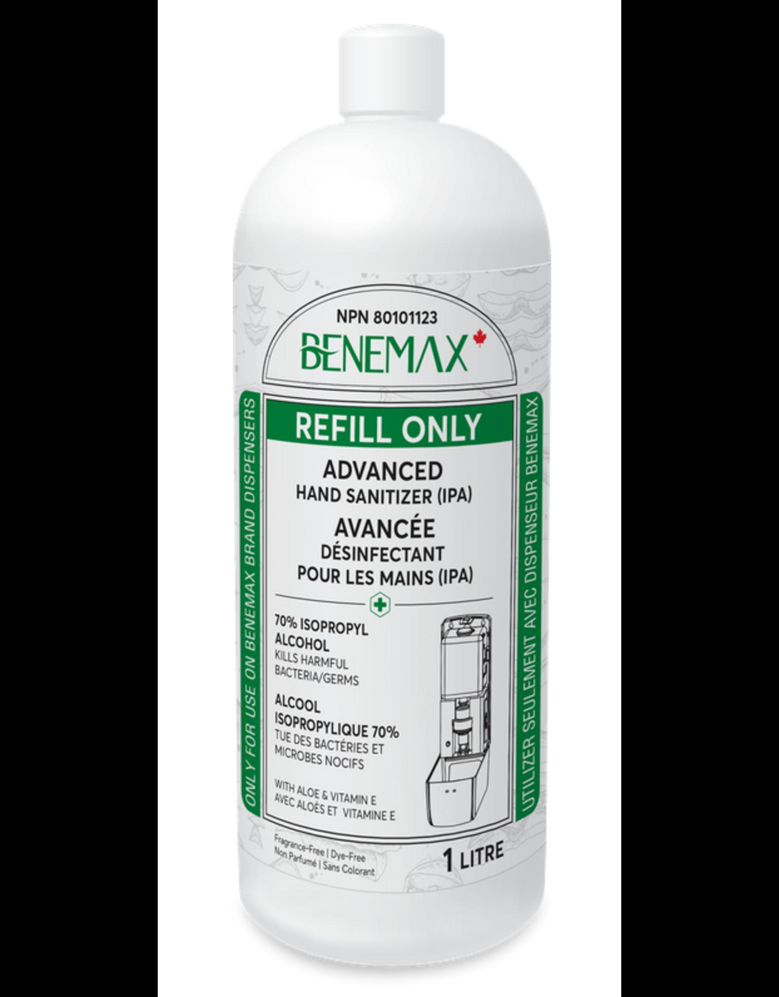 Benemax Benemax Hand Sanitizer with Aloe & Vitamin E 1L Refill
