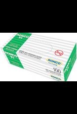 Ronco GLOVES-VINYL V1, LIGHTLY POWDERED, CLEAR 100/BOX