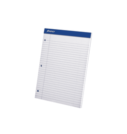 TOPS Products WRITING PAD-PERFED, LETTER AMPAD 50 SHEET WHITE 3-HOLE