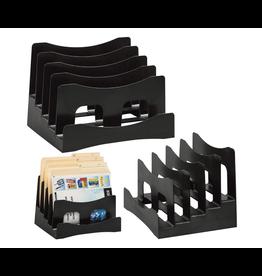 Merangue SORTER-STEP, PLASTIC ANGLED, BLACK
