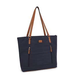 Roots BUSINESS TOTE-ROOTS SATCHEL, LADIES, NAVY BLUE