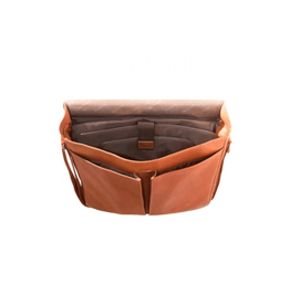MANCINI LEATHER GOODS MESSENGER BAG-LEATHER, UP TO 15.6'' LAPTOP, COGNAC
