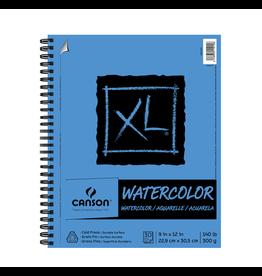 Canson WATERCOLOUR PAPER PAD-12X9,  XL COIL, 30 SHEET,  400092968