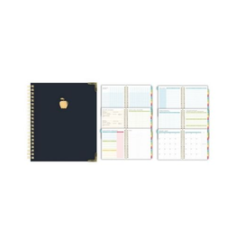 Blueline PLANNER-UNDATED TEACHER'S 11X8-1/2, WIRE, NAVY BILINGUAL
