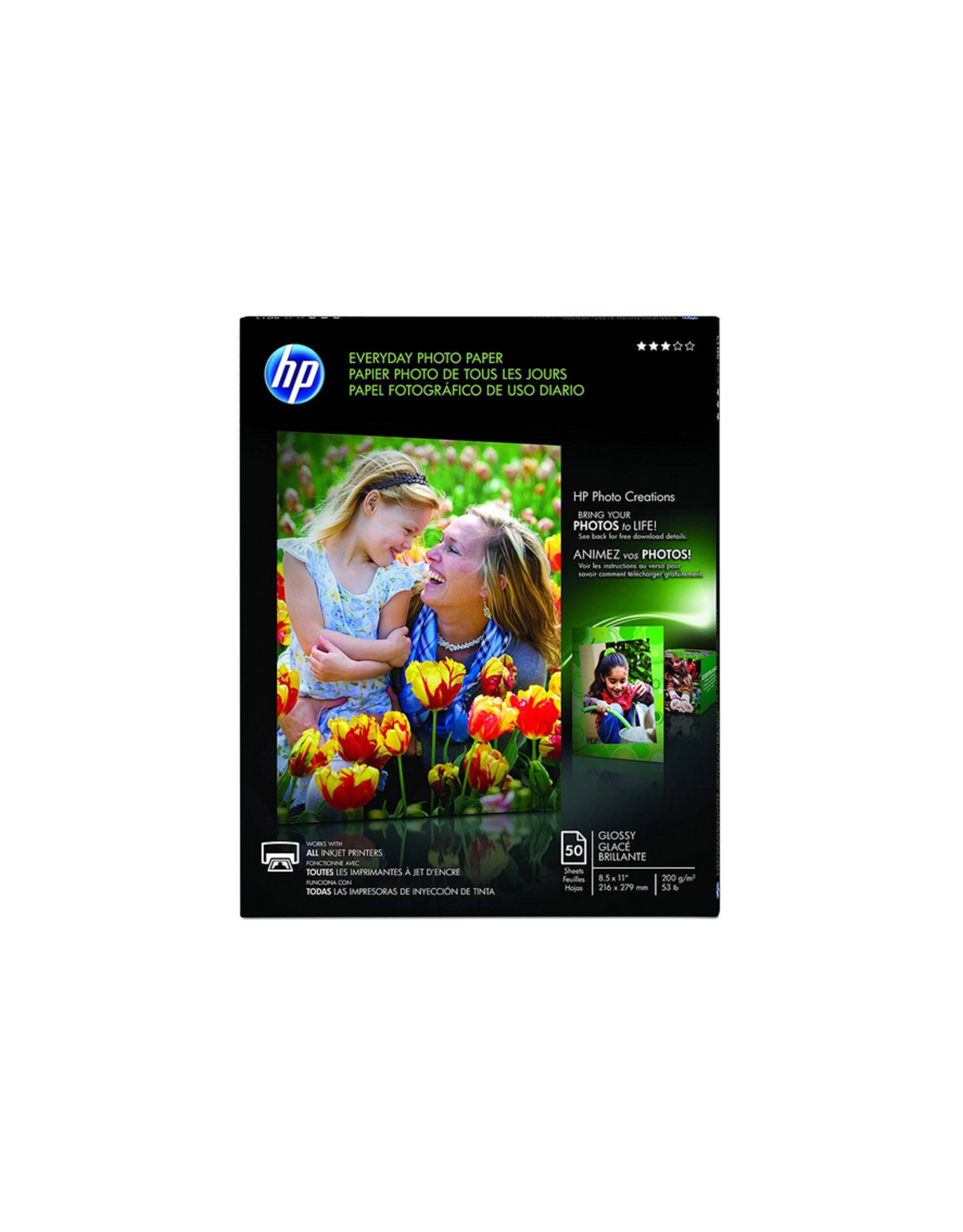 HP HP Everyday glossy Photo Paper-50 sht/Letter/8.5 x 11 in