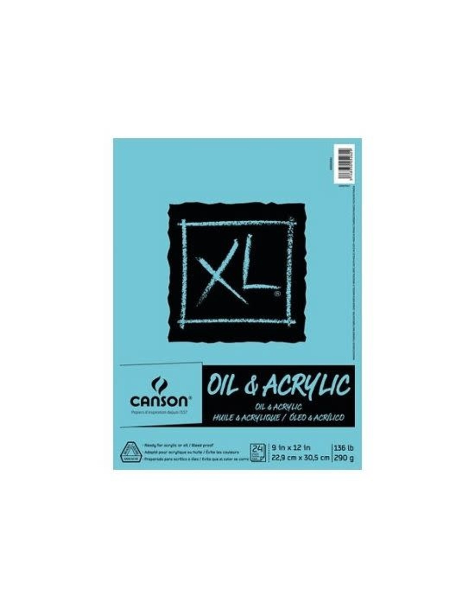 Canson ART PAPER PAD- XL OIL & ACRYLIC, 9X12 FOLDOVER, 24 SHEETS
