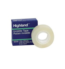 3M TAPE-HIGHLAND, INVISIBLE 19MMX32.9M BOXED