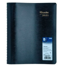 Dominion Blueline Inc. PLANNER-DAILY, WIRE 11X8-1/2 BLACK, ENGLISH 2021
