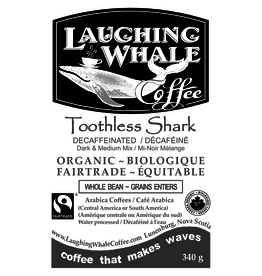 Laughing Whale Coffee Roasters Laughing Whale Coffee, Toothless Shark (Decaf), 340g Beans