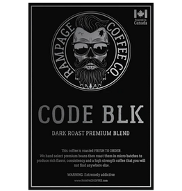 Rampage Coffee Co. Rampage Coffee, CODE BLK, 360g Beans