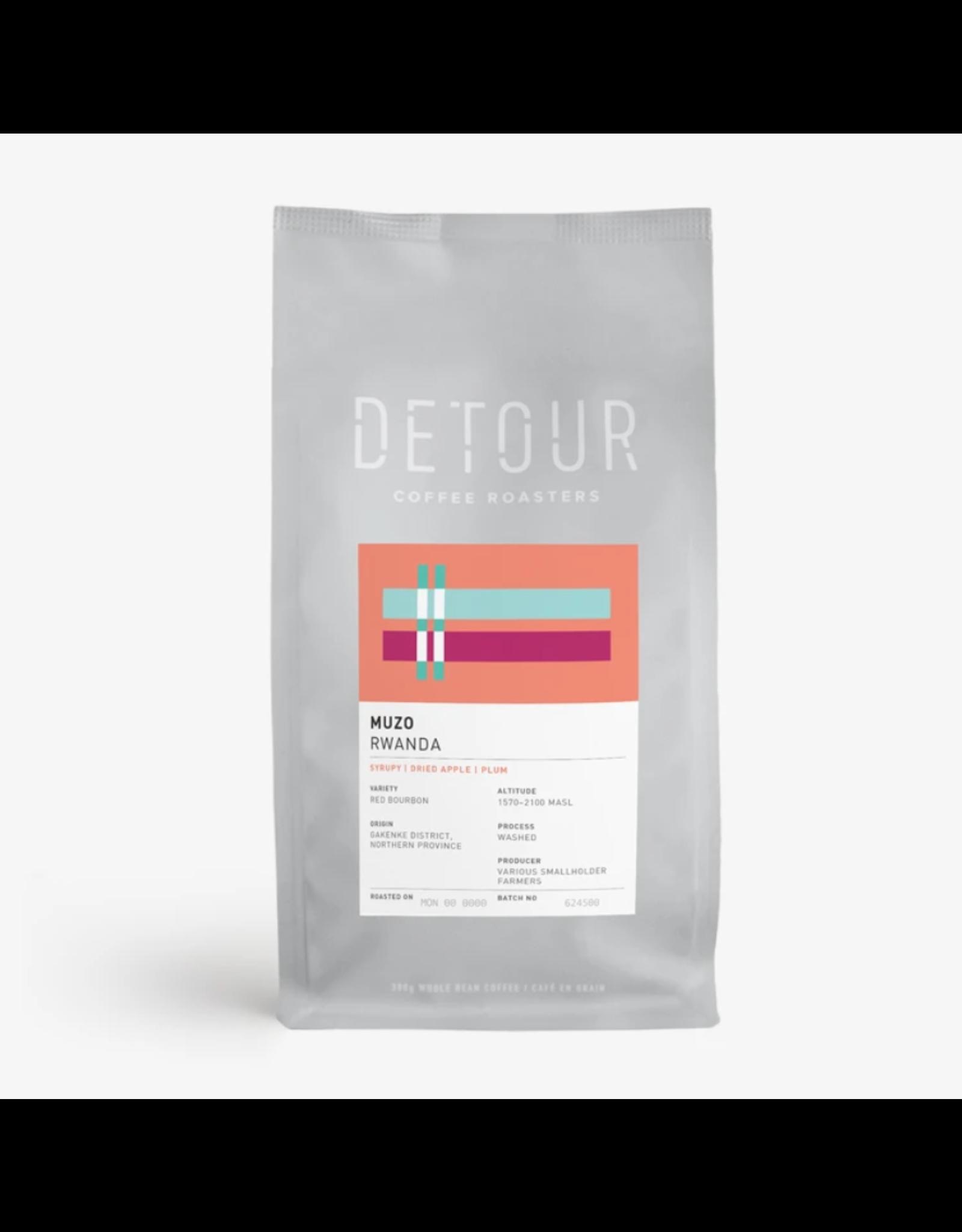 Detour Coffee Detour Coffee, Muzo Rwanda, 300g Beans