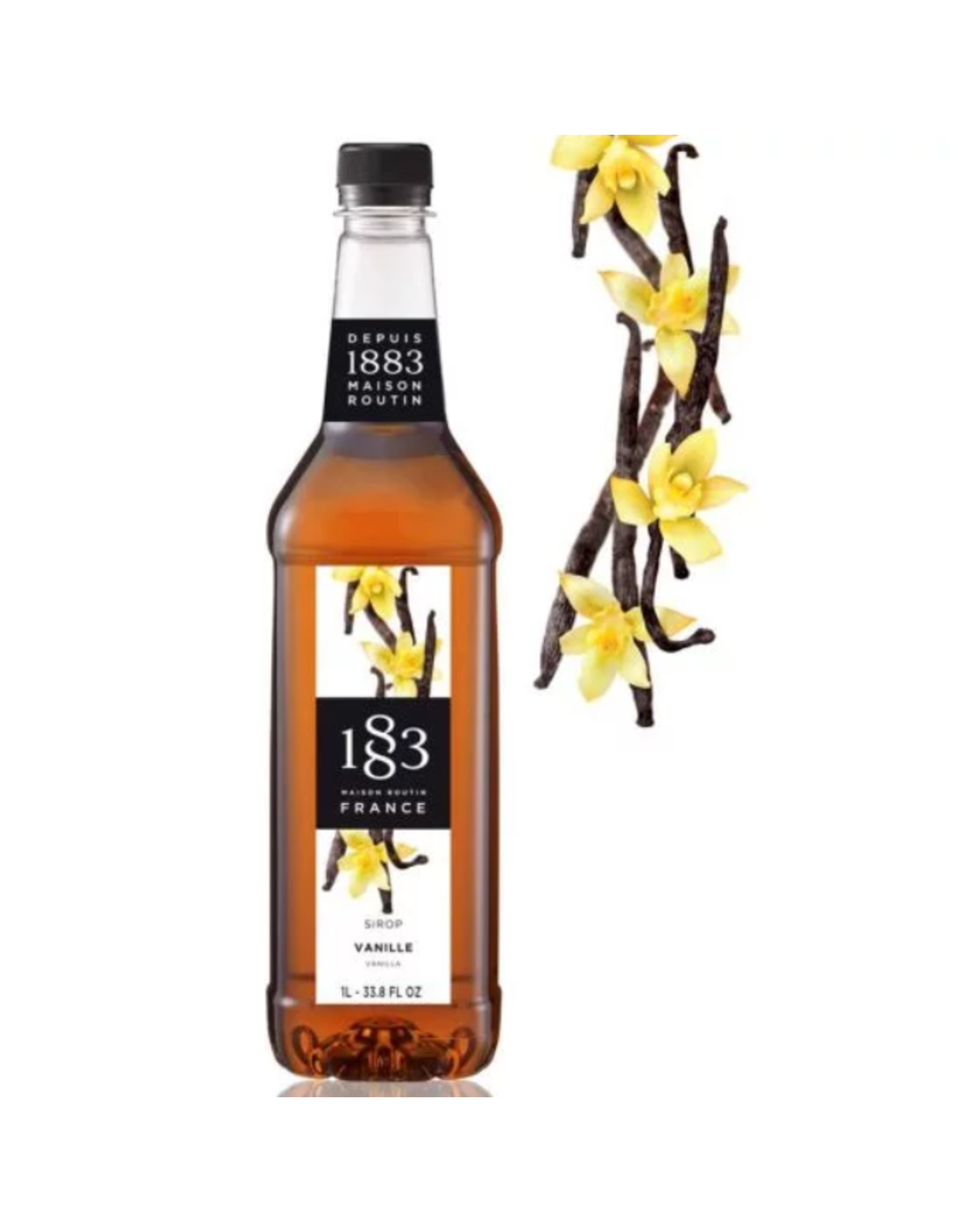 1883 Maison Routin France 1883 Syrup, Vanilla 1L Bottle