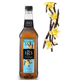 1883 Maison Routin France 1883 Syrup, Sugar Free Vanilla 1L Bottle