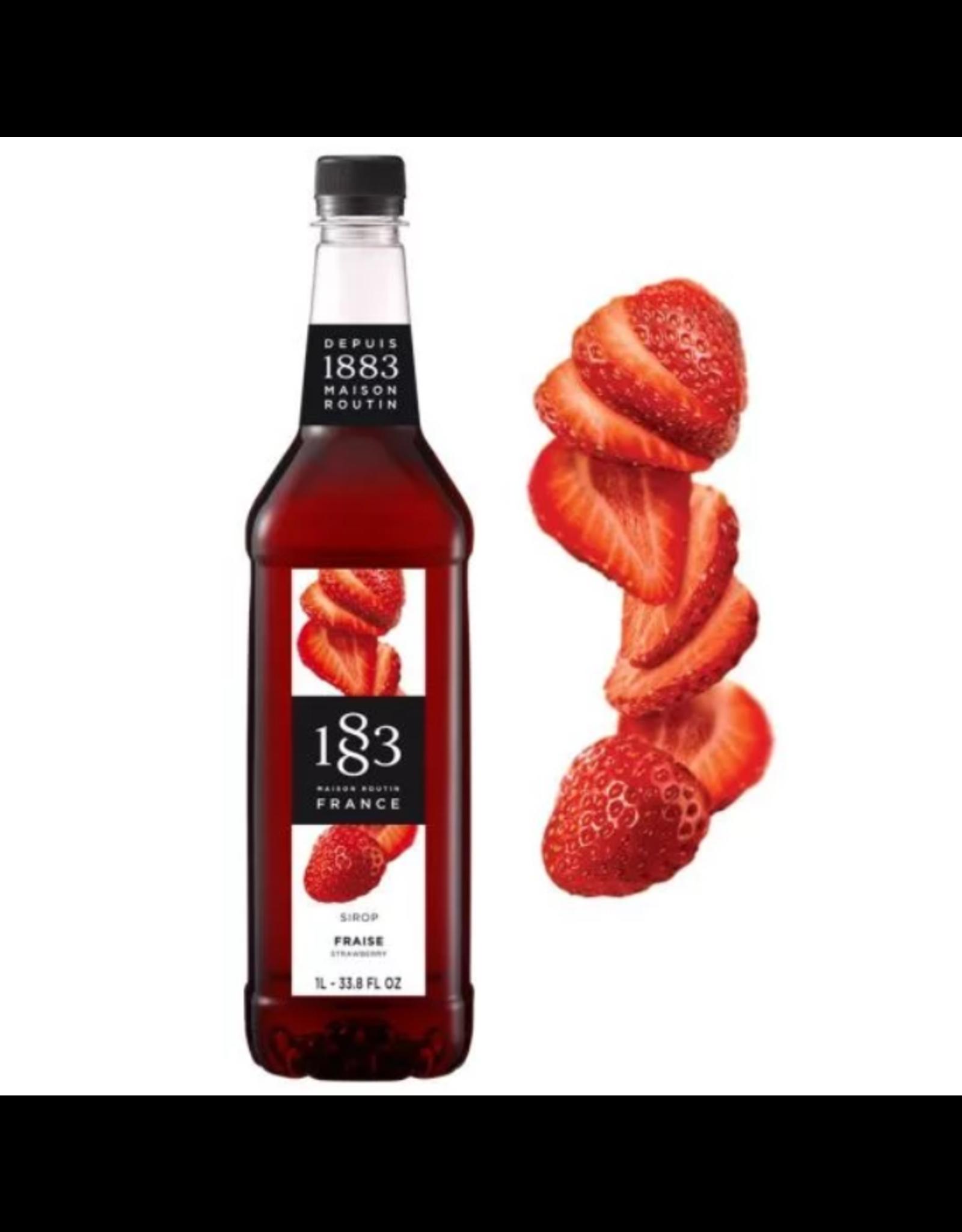 1883 Maison Routin France 1883 Syrup, Strawberry 1L Bottle