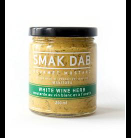 Smak Dab Foods Ltd. Smak Dab Gourmet Mustard, White Wine Herb, 250mL