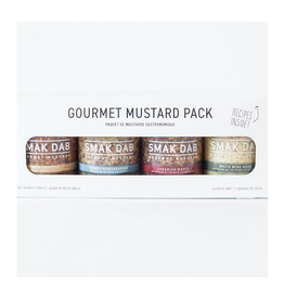 Smak Dab Foods Ltd. Smak Dab Gourmet Mustard, White Flavour Pack 4x125mL