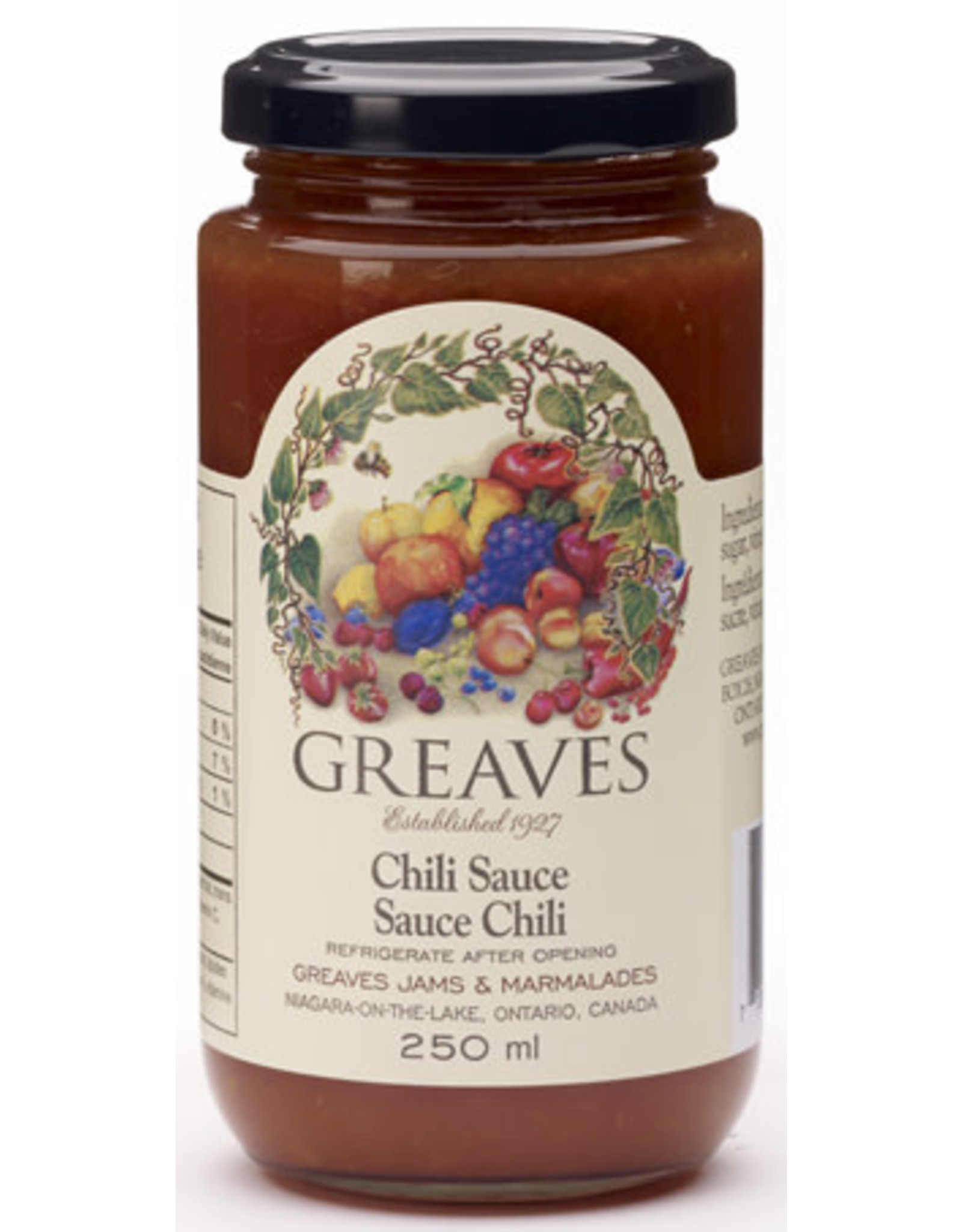 Greaves Jams & Marmalades Ltd. Greaves, Chili Sauce, 250ml