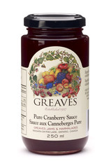Greaves Jams & Marmalades Ltd. Greaves, Cranberry Sauce, 250ml