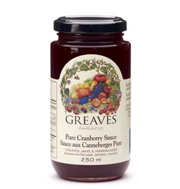 Greaves Jams & Marmalades Ltd. Greaves, Cranberry Sauce, 250ml