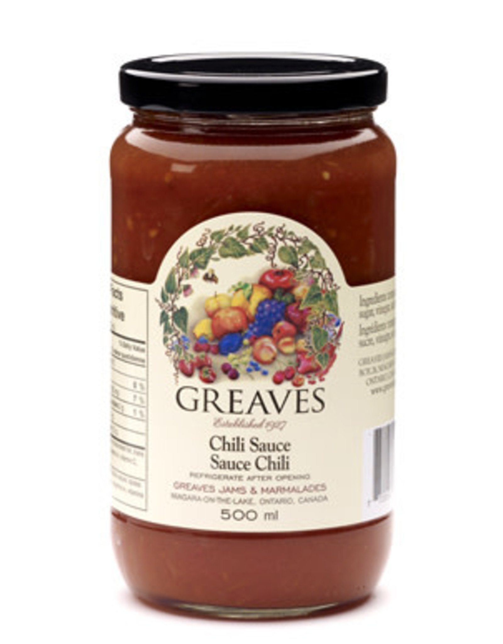 Greaves Jams & Marmalades Ltd. Greaves, Chili Sauce, 500ml