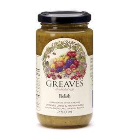 Greaves Jams & Marmalades Ltd. Greaves, Relish, 250ml