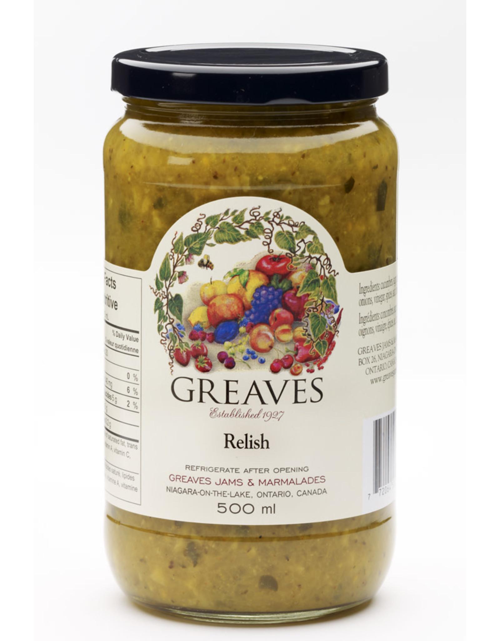 Greaves Jams & Marmalades Ltd. Greaves, Relish, 500ml