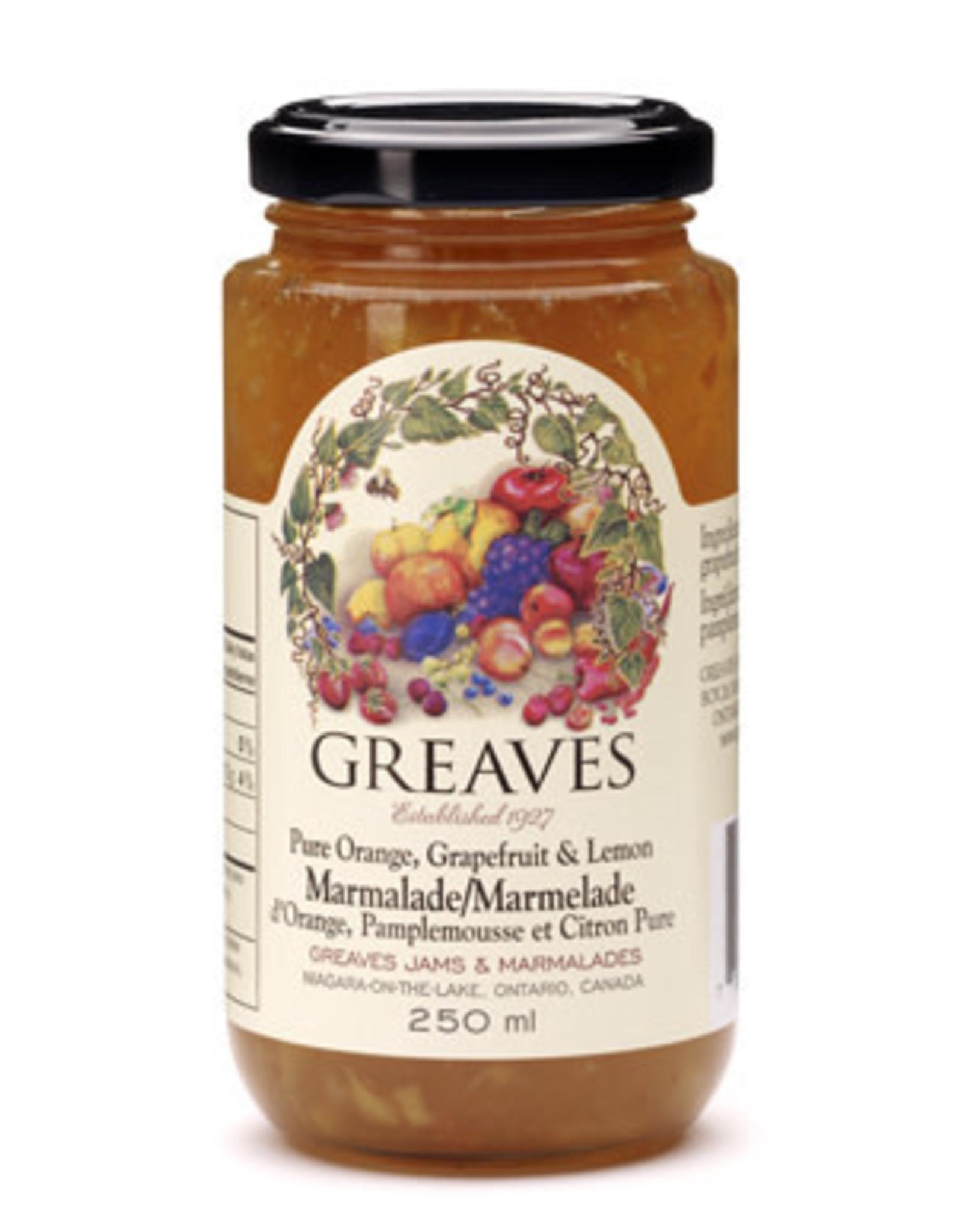 Greaves Jams & Marmalades Ltd. Greaves, Grapefruit Orange Lemon Marmalade, 250ml