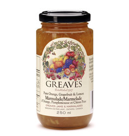 Greaves Jams & Marmalades Ltd. Greaves, Grapefruit Orange Lemon Marmalade, 250ml