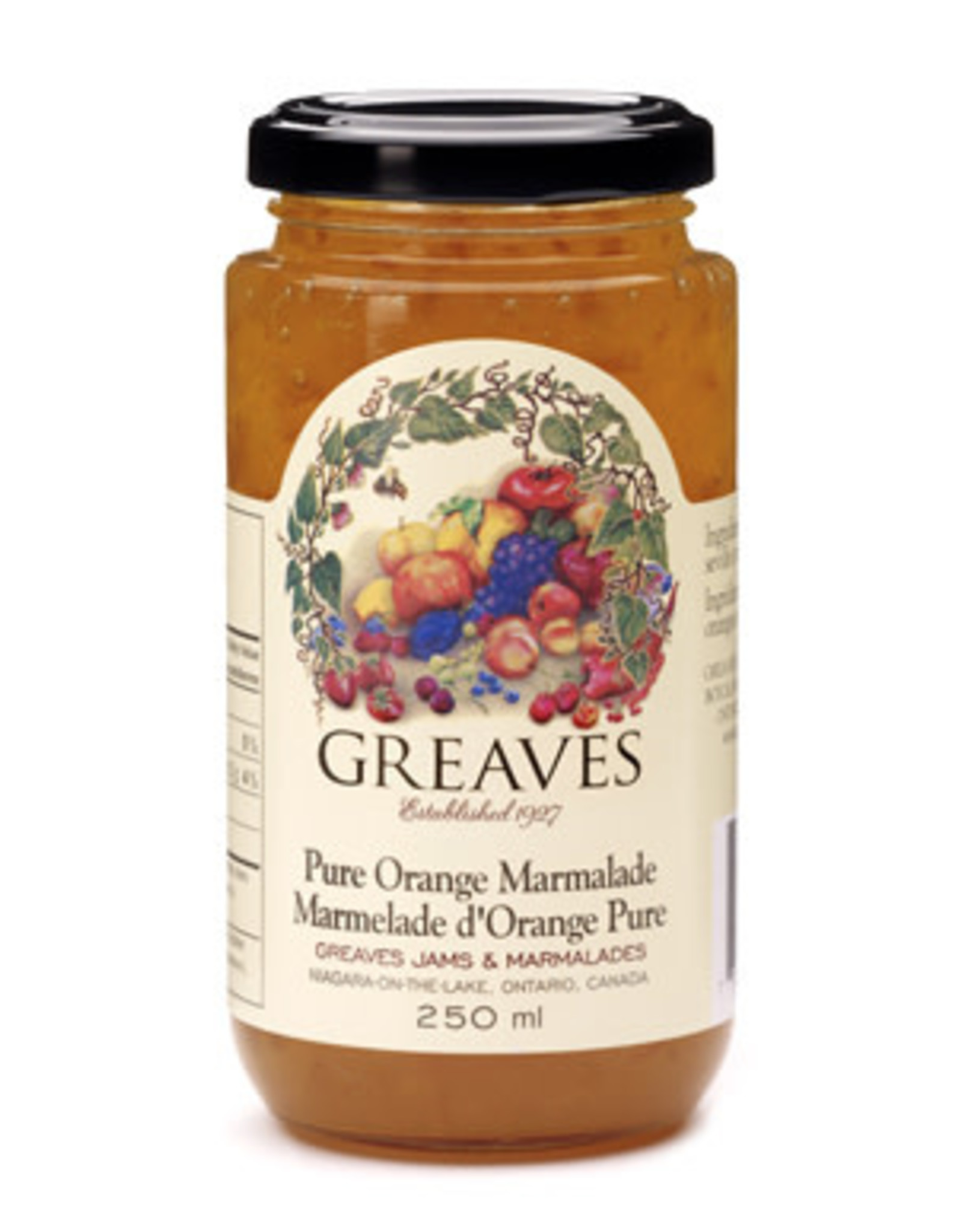 Greaves Jams & Marmalades Ltd. Greaves, Seville Orange Marmalade, 250ml
